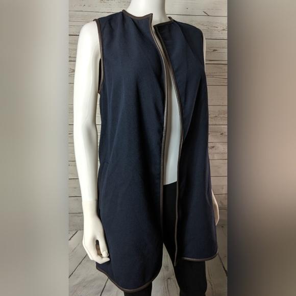J. McLaughlin Jackets & Blazers - J. McLaughlin Navy Blue Sullivan Vest